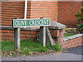 TG1817 : Olive Crescent sign by Adrian Cable