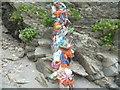 SW8836 : Plastic on Porthbean Beach by Jeremy Bolwell