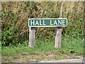 TG1913 : Hall Lane sign by Adrian Cable