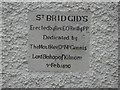 H1317 : Plaque, St Brigid's Church by Kenneth  Allen