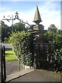 NZ1647 : Exit gateway from All Saints churchyard, Lanchester by Stanley Howe