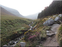 J3629 : The Glen River, its valley and path to Slieve Donard by Gareth James