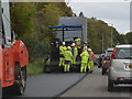 NR8587 : Road repair crew on the A83 by sylvia duckworth