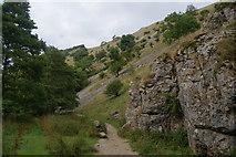 SK1357 : Limestone sides of Wolfscote Dale by Bill Boaden