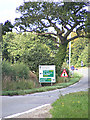TG2505 : Roadsign on the B1332 Bungay Road by Adrian Cable