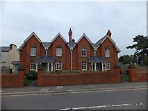 SX9292 : Victorian almshouses, Magdalen Street, Exeter by David Smith