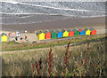 NZ8911 : A fresh coat of paint on the beach huts by Pauline E