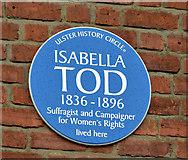 J3372 : Isabella Tod plaque, Belfast by Albert Bridge