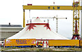 """J3575 : The """"Moscow State Circus"""", Belfast by Albert Bridge"""