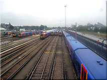 TQ2775 : Clapham Junction:  Carriage sidings by Dr Neil Clifton