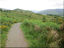 NN1073 : Footpath on Cow Hill by Peter S