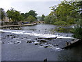 SK2268 : Bakewell Weir by Gordon Griffiths