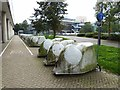 TQ2841 : Cycle pods at Gatwick Airport by Oliver Dixon
