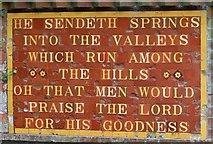 TQ2411 : Inscription by spring, Fulking by nick macneill