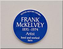 J3175 : Frank McKelvey plaque, Belfast by Albert Bridge