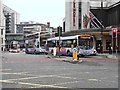 SJ8398 : Buses on Blackfriars Street by David Dixon
