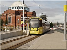 SD8912 : Rochdale Railway Station Tram Stop, Maclure Road by David Dixon