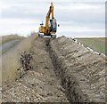 TA0015 : Digging Pipe Trench near Bonby by David Wright
