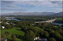 SH5371 : Menai bridges by Ian Capper
