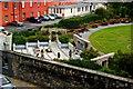 O1533 : Dublin Castle - Entrance to Dubhlinn Gardens by Joseph Mischyshyn