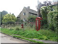 SO5817 : Post box and phone box at Stowfield by M J Richardson
