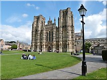 ST5545 : The magnificent West front of Wells Cathedral by Derek Voller