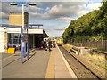 SD8912 : Train Approaching Platform 3, Rochdale Station by David Dixon
