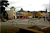 J4844 : Downpatrick - Entrance to St Patrick Centre from Market Street (A25) by Joseph Mischyshyn