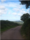 SX4668 : Minor road leading to Gawton Farm by Rod Allday