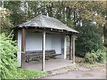 NT9953 : Aged shelter, Coronation Park by Barbara Carr