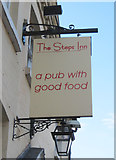 SO8171 : The Steps Inn (2) - sign, 18 Gilgal, Stourport-on-Severn by P L Chadwick