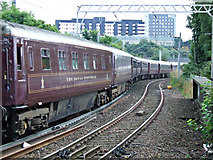 NS5566 : The Royal Scotsman at Partick railway station by Thomas Nugent