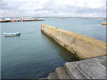 SY6878 : Weymouth, breakwater by Mike Faherty