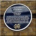 TQ3082 : Blue Plaque, King's Cross Station by Rich Tea