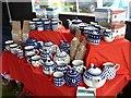 SJ0309 : Dyffren Cafe display at Llanfair Show by Penny Mayes