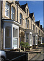 NZ2129 : Bishop Auckland - terrace on Victoria Avenue by Dave Bevis