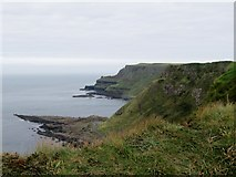C9444 : The Giant's Causeway from the cliff-top by Eric Jones