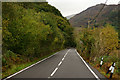 SH5945 : A498 Near Pont Aberglaslyn by Peter Trimming