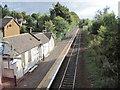 NS5855 : Thorntonhall railway station, South Lanarkshire by Nigel Thompson