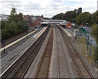 SJ6511 : Wellington railway station from Victoria Road bridge by Jaggery