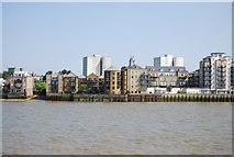 TQ3680 : View across the Thames to Limehouse by N Chadwick