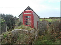SW4538 : Zennor: red telephone box by Chris Downer