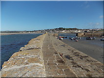 SW5130 : St. Michael's Mount: along the harbour wall by Chris Downer