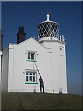 SW7011 : The Lizard: cleaning the lighthouse windows by Chris Downer
