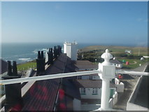 SW7011 : The Lizard: view across the lighthouse roof by Chris Downer