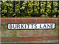 TL8741 : Burkitts Lane sign by Adrian Cable