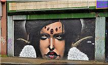 J3374 : Decorated shutter, North Street, Belfast (2) by Albert Bridge