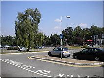 TQ2258 : Station forecourt, Tattenham Corner by Richard Vince