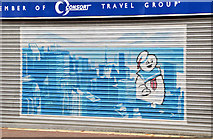 J3374 : Decorated shutter, North Street, Belfast (4) by Albert Bridge