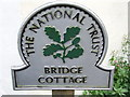 TM0733 : National Trust Sign by Keith Evans